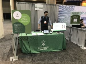 Grassroots Unwired, CEO Russ Oster at the NTEN conference booth