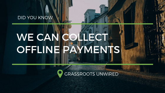 We Can Collect Offline Payments