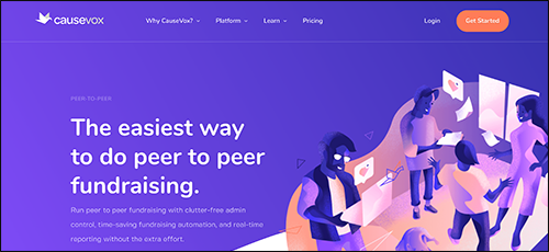 Explore CauseVox's peer-to-peer fundraising platform.