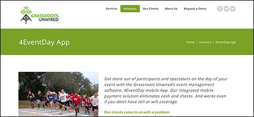 Explore Grassroots Unwired's peer-to-peer fundraising platform.